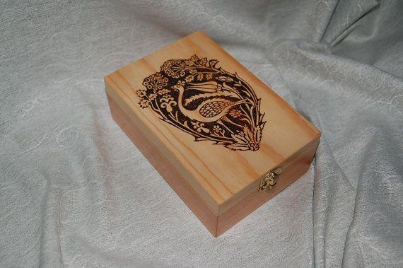 Tea box with peacock