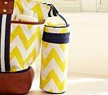 Sausalito Bottle Bag, Yellow Chevron