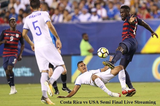 Costa Rica vs USA Live Streaming Semi Final Match Preview, CONCACAF GOLD Cup 2017. Today live score United States vs Costa Rica, Kick Off Time, Venue, News