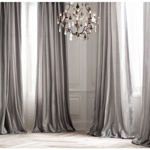 PLATINUM SILK curtain, dupioni silk, grey, silver, window dressing, draping, - Best 25+ Silk Curtains Ideas On Pinterest French Curtains