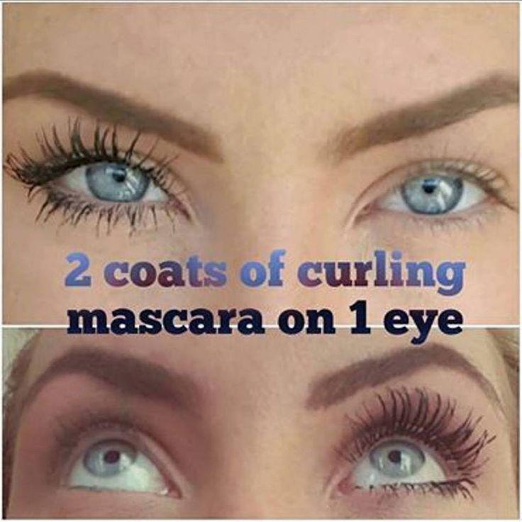 Curl&lash mascara                                                                                                                                                 #mascara #longlashes #beforeafter #rimmel