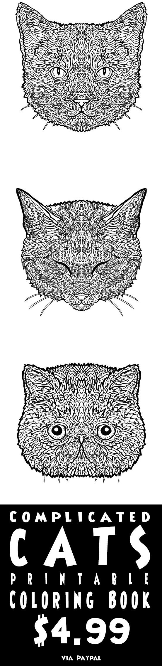 88 best complicated cats a fiddly feline coloring book images on