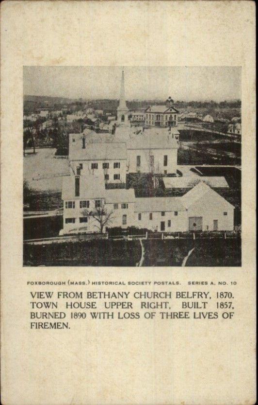 Foxborough Massachusetts from Bethany Church Belfry c1910