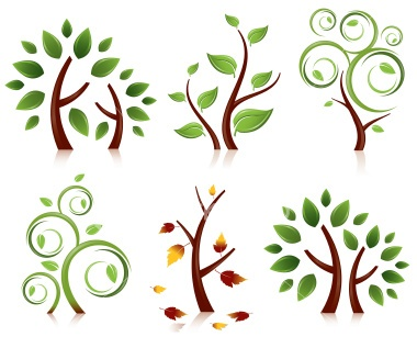 Tree Set Royalty Free Stock Vector Art Illustration