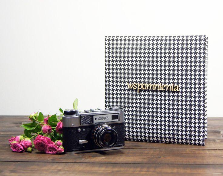 Album wspomnienia w pepitkę 30 cz str 24x24 - Plans-And-Memories - Albumy na zdjęcia wklejane