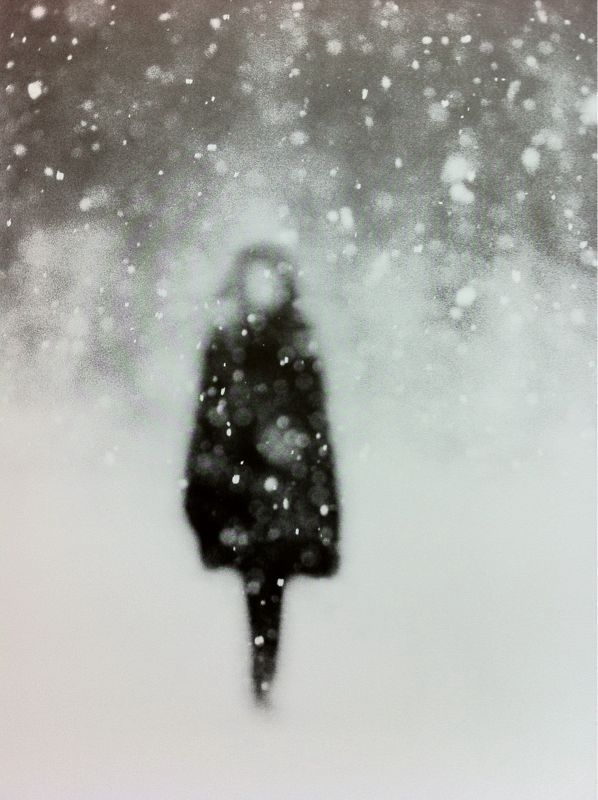 snowy blur