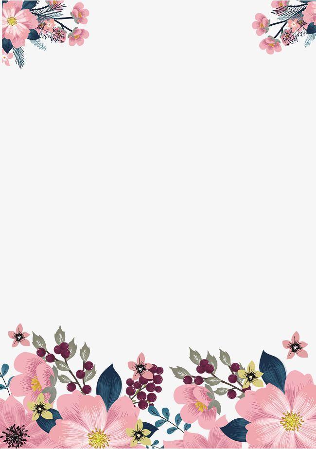 Hermosas flores frontera plantillas invitaciones t Flower