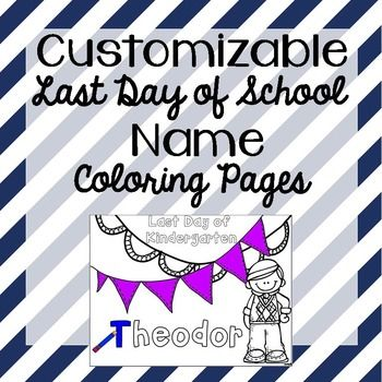 last day of school name coloring pages kindergarten
