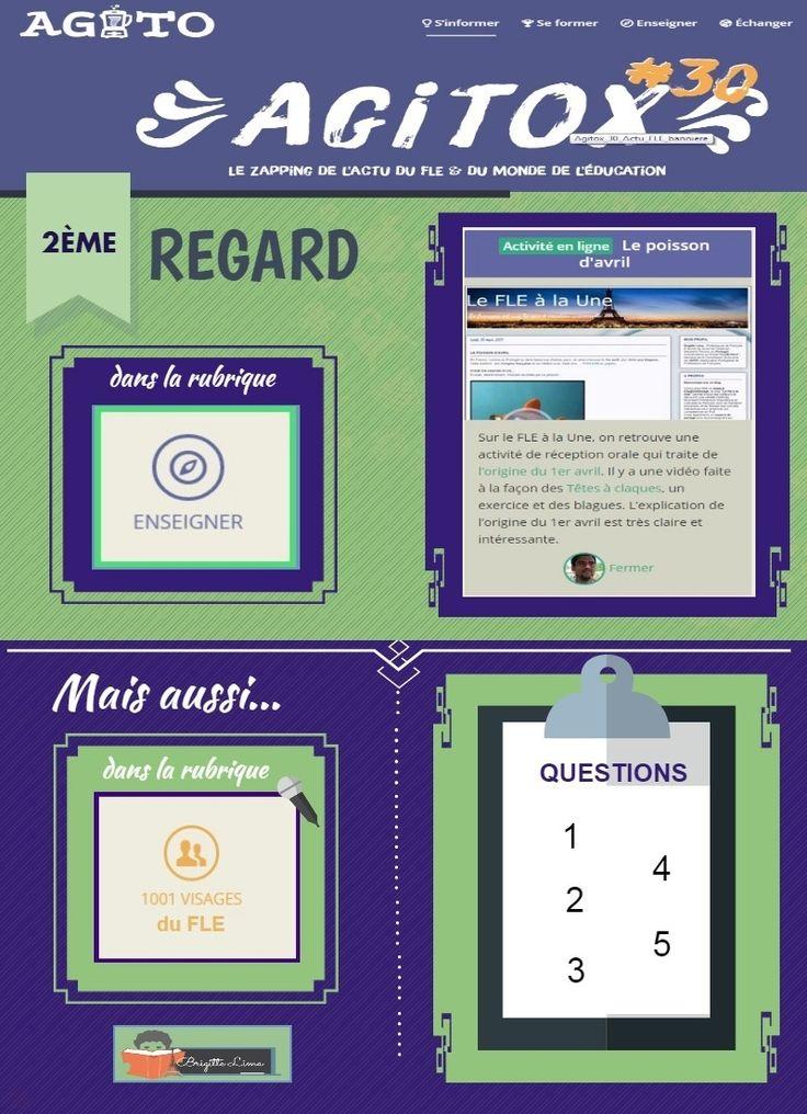 """L'édition hebdomadaire Agitox rend visite au blog """"Le FLE à la Une"""""""