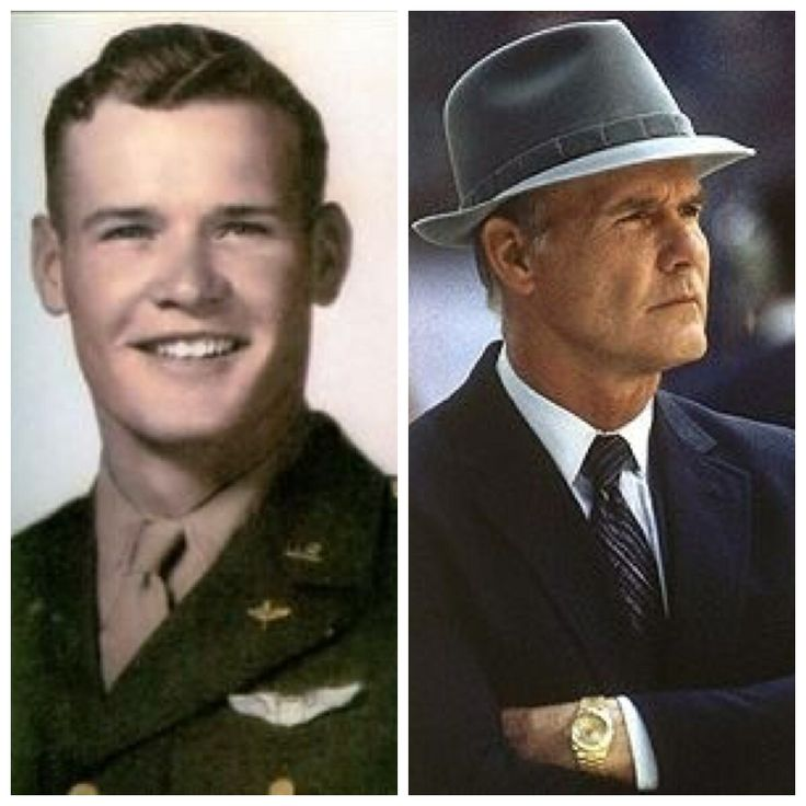 Tom Landry-Army Air Corps-WW2-2nd Lt.-8th Air Force (Coach for Giants, Dallas Cowboys, played for Yankees and Giants)