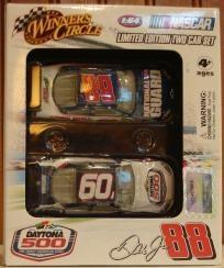 2009 Winner's Circle Limited Edition NASCAR Two Car Set Daytona 500 - #88 Dale Earhardt Jr - National Guard Impala SS, 1:64 Diecast     Car #1 - #88 Dale Earhardt Jr - National Guard Impala SS, 1:64 Diecast      Car #2 - 51st Running of Daytona Theme C...