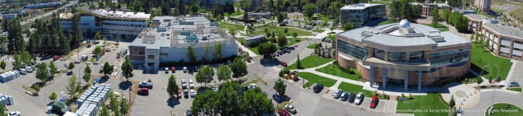 Aerial Photography | Thompson Rivers University, Kamloops, British Columbia.