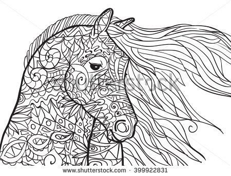 Image Result For Coloring Pages For Adults Horse Stress