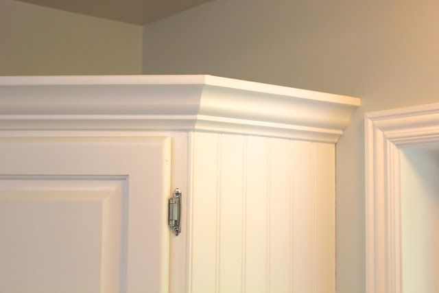 Add bead board to the side of a cabinet