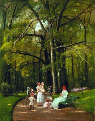 Séta a Parc Monceau-ban - Munkácsy Mihály