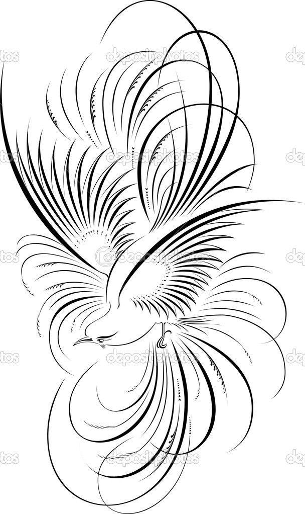 depositphotos_1503240-Calligraphic-Illustration-Of-Bird.jpg (608×1022)