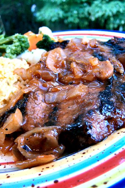 South African Steak With  Sweet Marinade Sauce
