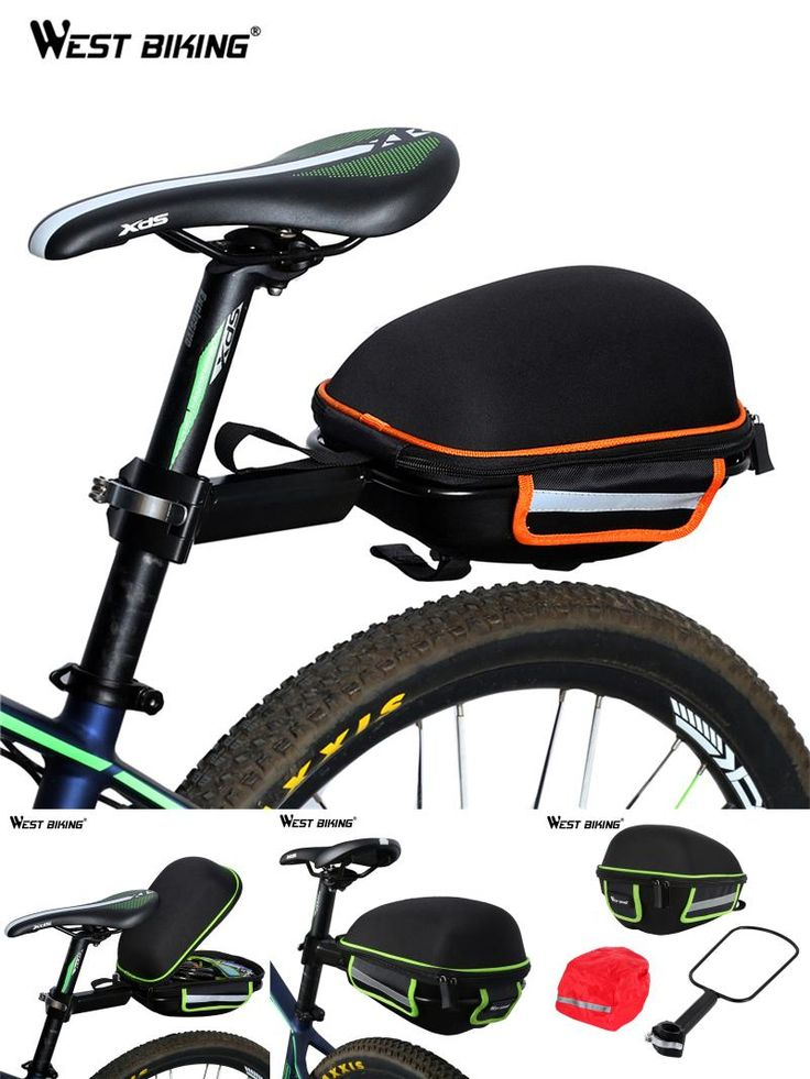 [Visit to Buy] WEST BIKING Bike Rear Bag Reflective Waterproof Rain Cover Portable Mountain Road Bike Cycling Tail Extending Bicycle Saddle Bag #Advertisement