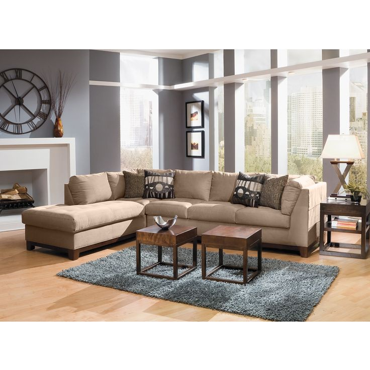 living room furniture soho ii 2 pc sectional reverse