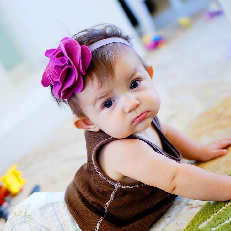 great baby headband tutorial!