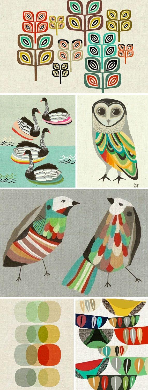 http://inaluxe.blogspot.com/ Australian Illustrators. Inaluxe is a small design team consisting of Kristina Sostarko and Jason Odd.