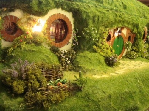 """""""In a hole in the ground there lived a hobbit. Not a nasty, dirty, wet hole, filled with the ends of worms and an oozy smell, nor yet a dry, bare, sandy hole with nothing in it to sit down on or to eat: it was a hobbit-hole, and that means comfort.""""  - J.R.R. Tolkien, The Hobbit, Ch. 1"""