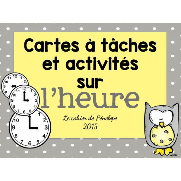 Cartes à tâches et activités sur l'heure
