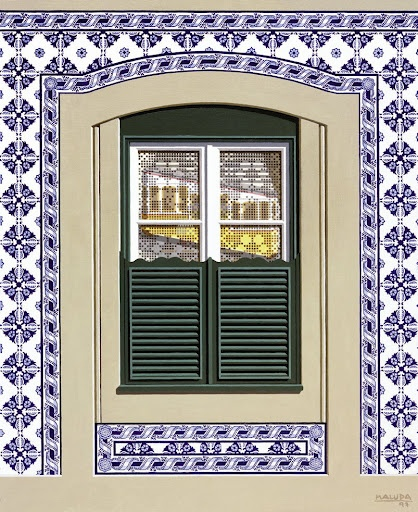 Window 38, 1997, by Maluda #Portugal, tiles