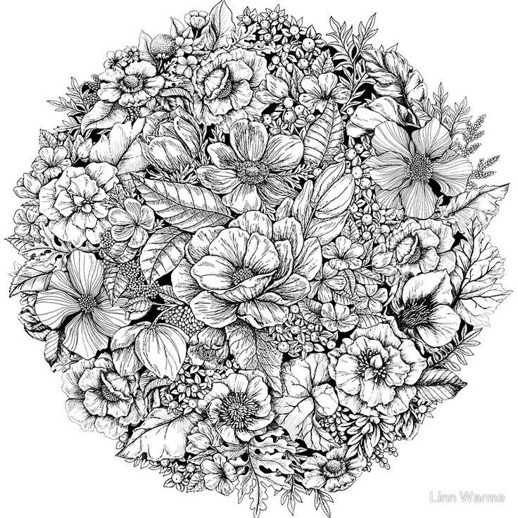 Abstracte Vormen Kleurplaat Icolor Quot Flowers Quot Icolor Quot Flowers Quot Pinterest Cirkels