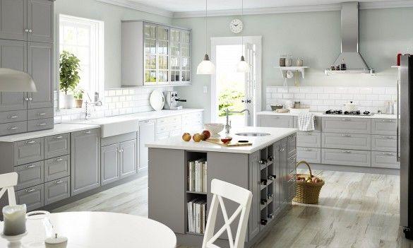 White and bright IKEA kitchen
