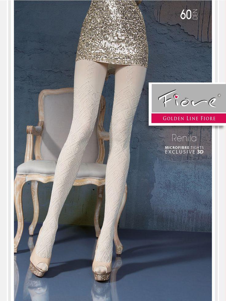 RENILA 60den. Superbe collant glamour, chic et confortable, épais, opaque et chaud.