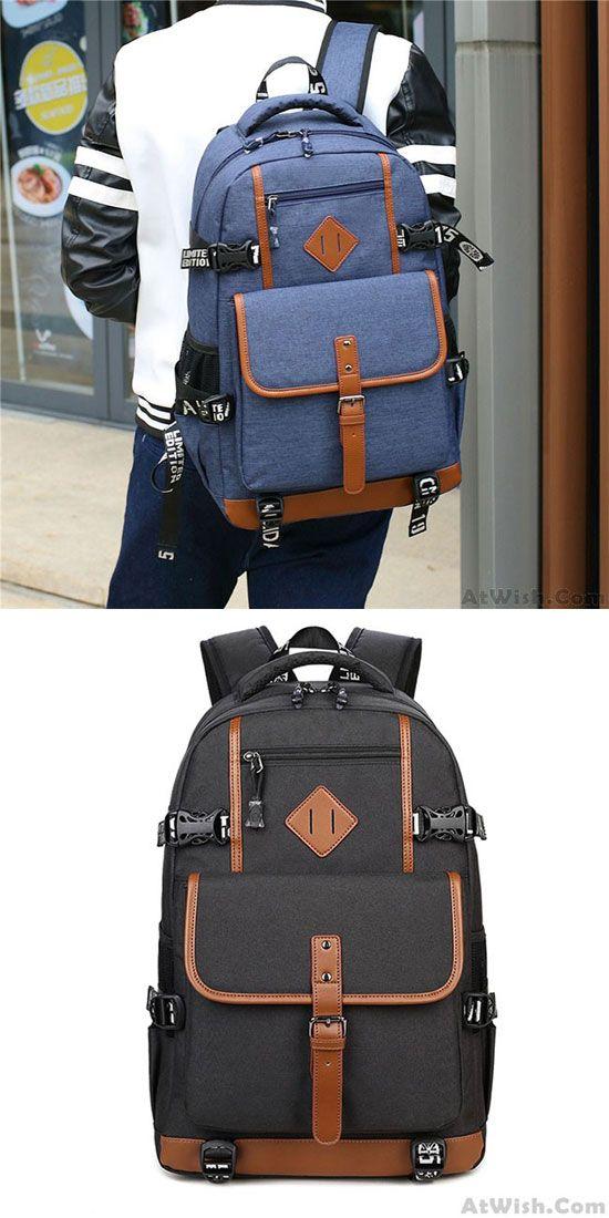 Leisure Oxford Cloth Waterproof Rucksack Computer Bag Large Outdoor Travel Men's Backpack