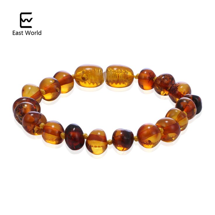 EAST WORLD Cognac Color Amber Bracelets Anklets 4.7--8.7'' Handmade Original Jewelry Baltic Ambar Beads for Baby Adults Women //Price: $29.84 & FREE Shipping //     #hashtag3