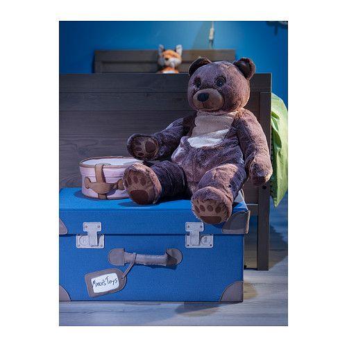 PYSSLINGAR Coffre à jouets IKEA Se replie et se range facilement.