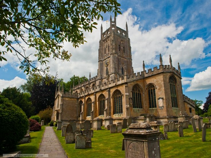 St Mary`s church in the Cotswold town of Fairford, Gloucestershire