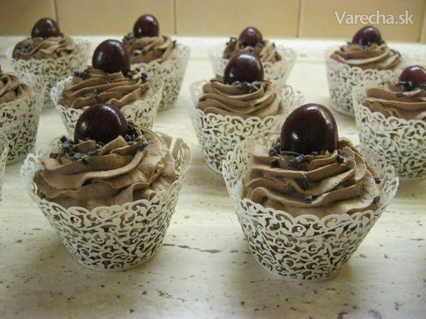 Orechové cupcakes