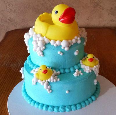 2 tier Rubber Duck cake