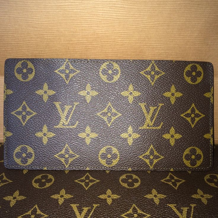 Authentic Louis Vuitton Taiga Monogram Passport/Credit Card holder- LONG - The Luxe Boutique