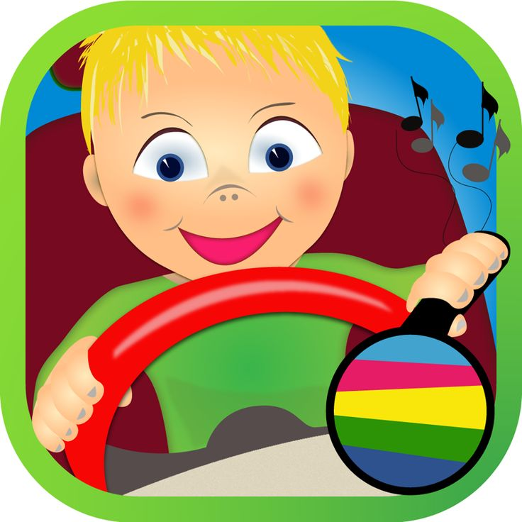 Become a real driver.  Car simulator for kids.