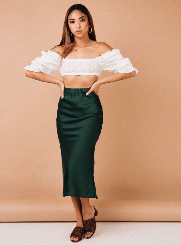 01f0d20b97 Marcella Midi Skirt Forest Green   Princess Polly   Things to Wear ...