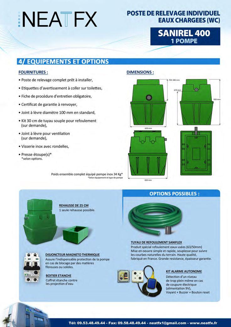 Dimension des cuves sanirel 400 Litres Catalogue Stations et