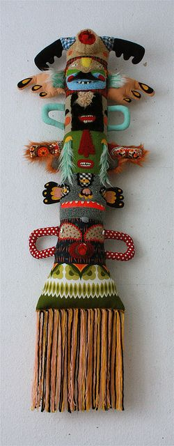 Fabric totem pole by Super Ninon.