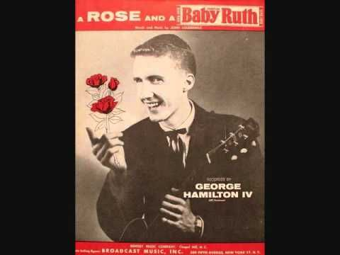 Today 12-11 in 1956 radios were playing a lot of the slow dancing hit song from George Hamilton IV - 'A Rose and a Baby Ruth'