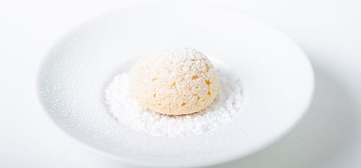 Crunchy Choux with Chartreuse Mousseline - Michael Laiskonis gives pâte a choux crunchy exterior thanks to a a sablée of sorts, draped over the choux.