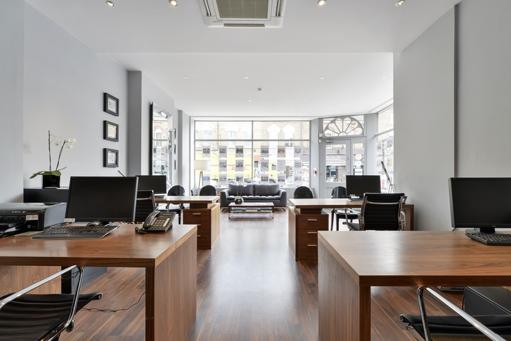 15 best wallpaper in an office setting images on pinterest for Estate agency interior design