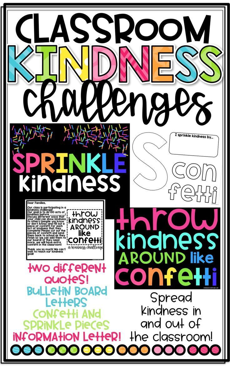 Classroom Kindness Challenges Kindness Challenge Bulletin Board Letters Classroom