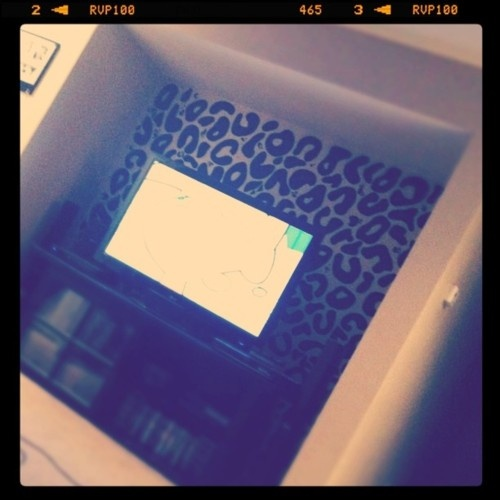 Leapord Print Wall...this sparked the idea to line the insides of my vanity drawers with leapord or cheetah or zeebra