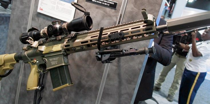 At the 2017 Association of the United States Army annual meeting, Oberndorf gunmaker Heckler & Koch had on display the latest configuration of their CSASS winning rifle, the G28E-based M110A1. The rifle is similar to the M110A1 displayed at the 2017 SHOT Show in Las Vegas, but sports a RAL8000 bronze finish (similar to the CSASS … Read More …
