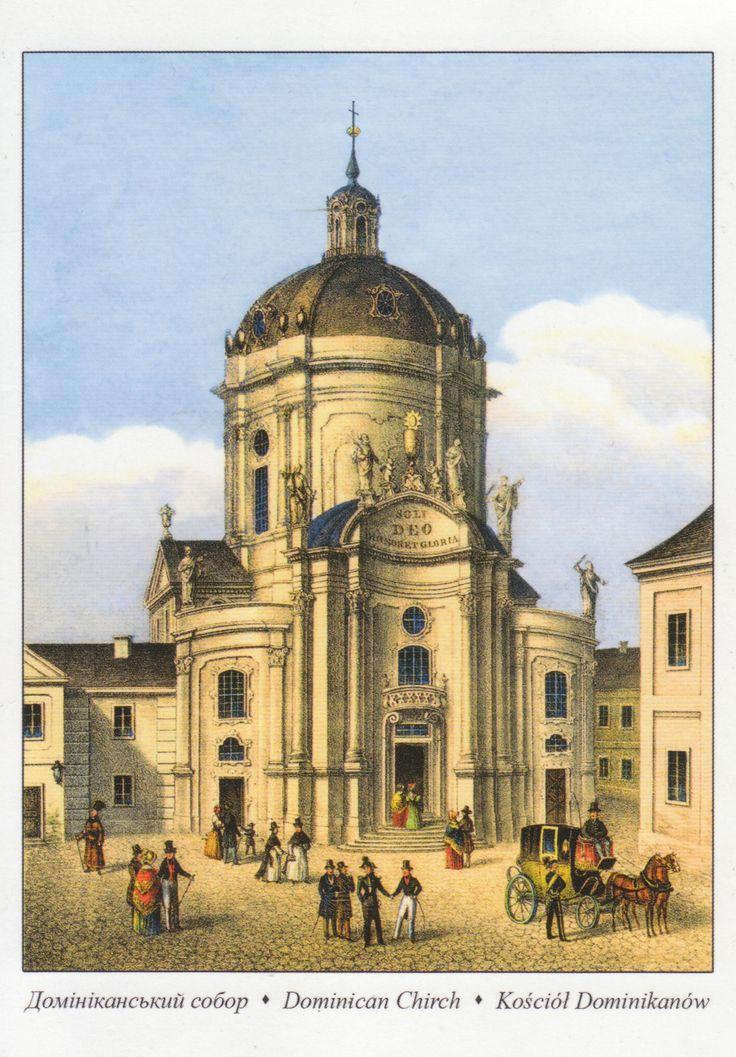 kosciol dominikanow - Ville de Lviv en Ukraine - Distance: 1,601 km (995 miles) - Travel time: 40 days
