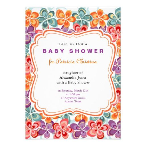#Colorful #Varnish #Flowers #Baby #Shower #Party #Invitation - fully customizable with your own text. More baby products Ruxique's Business & Special Occasions Store